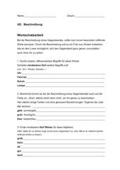Wortschatzarbeit zur Gegenstandsbeschreibung