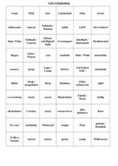 Zuordnungsspiel - unit 4 Orange Line 4
