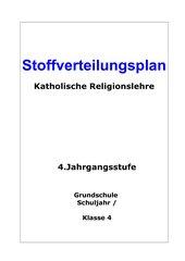 Jahresstoffverteilungsplan REL 4.Kl.