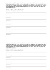 Geschichte zum Weiterschreiben Klasse 1 - Einführung tz
