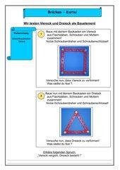 Brückenkartei: Viereck und Dreieck als Bauelemnet