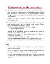 Einführung in Mathematica für Schüler