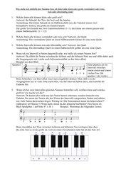 Wie bestimme ich Intervalle mithilfe der Tastatur?