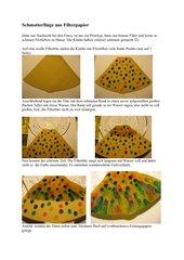 Schmetterlinge aus Filterpapier