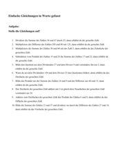 Gleichungen aufstellen 2