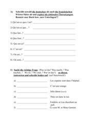Wdhlg: erste Sätze mit Fragewörtern