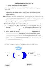 Lückentext zur Entstehung vonEbbe und Flut + Abbildung zur Veranschaulichung
