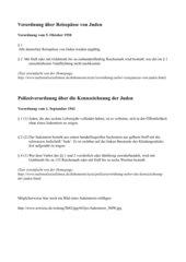 Verordnungen Judenverfolgung - vereinfachter Text