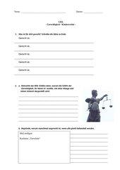 Gerechtigkeit/Kinderrechte - Kontrollarbeit