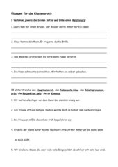 Übung Haupt-/Nebensätze, Relativpronomen, Konjunktionen