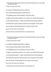 Satzanfang und Satzende