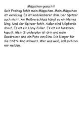 Gegenstandsbeschreibung: Federmäppchen, GS, Kl. 4