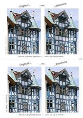 Original und Fälschung: Fachwerkhaus