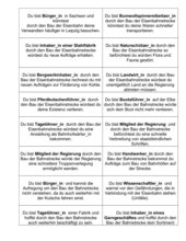 Rollenkarten - Die Eisenbahn/ Industrialisierung