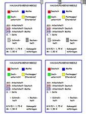 Erklärung der Hausaufgabensymbole