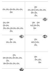 Karteikarten Nomenklatur Alkohole, Carbonyle, Carbonsäuren