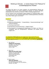 Soziales Lernen - Starke Klassen - Starke Kinder - präventives Arbeiten zum Thema Mobbing