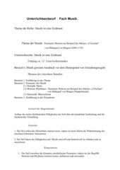 """Parameter Metrum am Beispiel des Stückes """"O Euchari""""von Hildegard von Bingen (1098-1179)"""