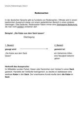AB Redewendungen, Klasse 6
