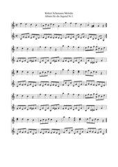 Robert Schumann Album für die Jugend Nr. 1 Melodie