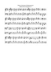 Robert Schumann Album für die Jugend Nr. 2 Soldatenmarsch