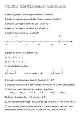 Quiz zu rationalen Zahlen