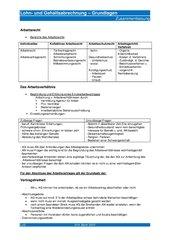 Lohn- und Gehaltsabrechnung - Grundlagen