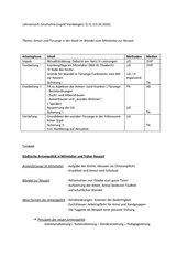 UR-Plan: Armenfürsorge in MA und früher NZ