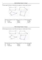 Rechtwinklinge Dreiecke, Arbeitsblatt