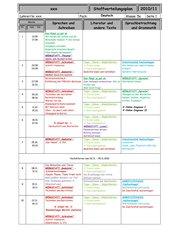 Stoffverteilungsplan Deutsch Klasse 5 Werkrealschule Baden-Württemberg