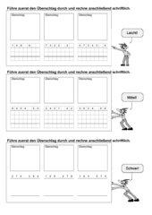 Schriftliche Multiplikation - Leicht - Mittel - Schwer