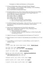 Textaufgaben zur Addition und Subtraktion von Dezimalzahlen