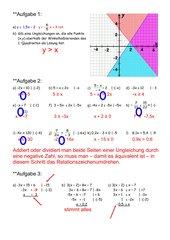Freiarbeit  lineare Ungleichungen und -systeme