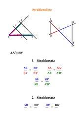 Strahlensätze - Formelblatt