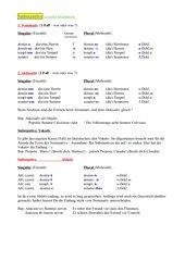 Latein - erste Grammatik Zusammenfassung