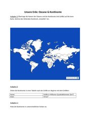 Globus : Ozeane & Kontinente