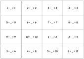 Lernkarten - Kleines Einmaleins (Multiplikatorsuche)