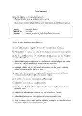 Sätze für Lesetraining