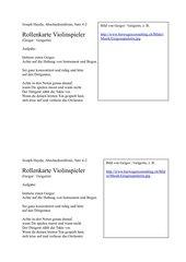 Rollenkarten zu Joseph Haydn Abschiedssinfonie