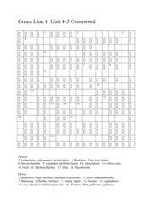 Green Line 4, Unit 4, Crossword Puzzle 3