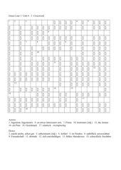Green Line 3 Unit 4 Crossword 2