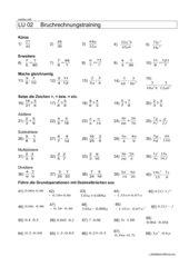 Repetition Brüche und Dezimalbrüche