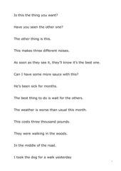 Pronunciation exercises