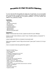 Des gaufres de Liège - recette