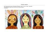 Portrait: Indianer / Drucken mit Löwenzahn