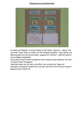Wand-Kalender für die Klasse (mit aktuellem Datum, Monat)