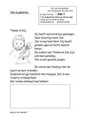 geboorte: Jan is geboren (Niederländisch)