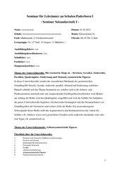 Achsensymmetrische Figuren (2.Fachleiterbesuch)