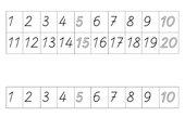 Ziffernleiste bis 10 und bis 20 doppelseitig