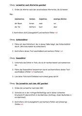 Stationsübungen für Diktate  (Grundschule)